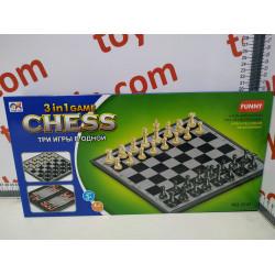 Игра 3в1 Шашки- Шахматы- Нарды 3141