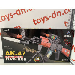 Автомат АК-47 свет/звук LX5300